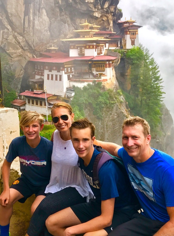 The Family & Kids at the Tiger's Nest, Bhutan