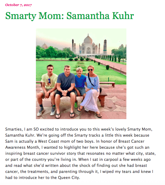 Smarty Mom of the month