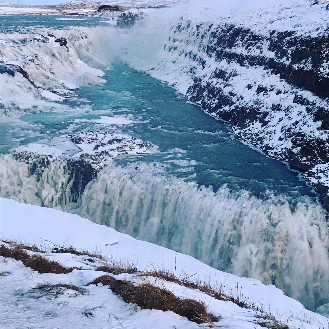 Gullfoss Waterfall - near the continental divide
